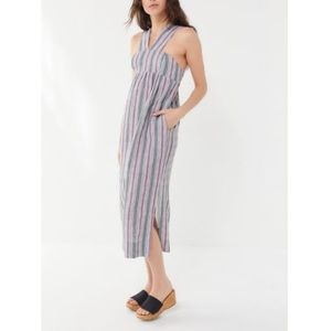Urban Outfitters Midi Striped Dress